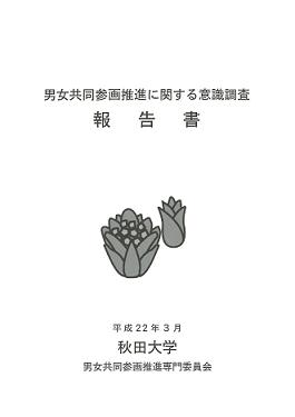男女共同参画推進に関する意識調査報告書